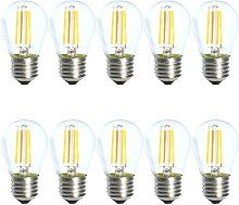 10-Pack 4W G45 E27 Dimmable LED Filament Warm