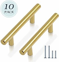 10 Pack 76mm Kitchen Cupboard Handles Stainless