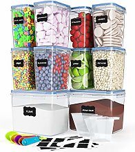 10 Pack Airtight Food Storage Container Set -