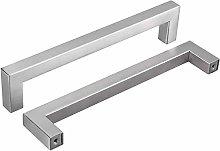 10 Pack Cabinet Door Handles Brushed Nickel