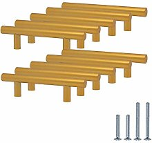 10 Pack Cabinet Handles 76mm(3 inch) Hole Center,