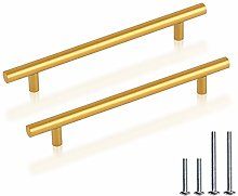 10 Pack Cabinet Handles Hole Center 192mm Gold
