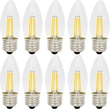 10 Pack Dimmable LED Candle Bulbs, C35 E27 4W,