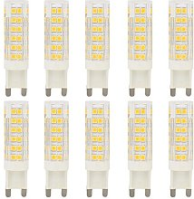 10 Pack G9 7W Warm White Dimmable 76 SMD 2835 LEDs