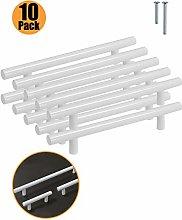 10 Pack Kitchen Door Handles White - Probrico