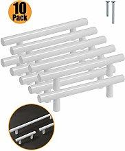 10 Pack Kitchen Door Handles White - Probrico 96mm