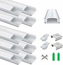 10-Pack LED Aluminum Profile, LightingWill LED