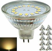 10-Pack,MR16 LED Bulbs,12V,Full Glass
