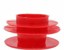 10 Pack Red Ribbed Pipe Plug 10mm - 114.3mm, Pipe