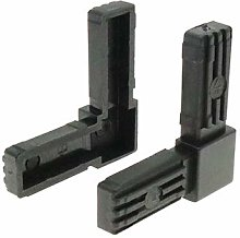 10 Pack Square 2 Way Nylon Tube Connector, Tube