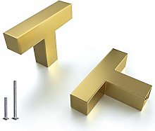 10 Pack T Bar Kitchen Cabinet Handle Golden