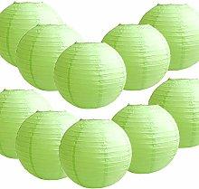 10 Pack Tissue Paper Round Lanterns LampShade Lamp