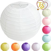 10 Pack Tissue Round Paper Lanterns Lamp Shade