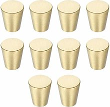 10 Packs Cabinet Brass Knobs Round Brushed Knob