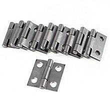 10 Pcs 4.3mm Hole Rotatable Cupboard Cabinet Door