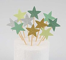 10 Pcs Cake Topper Star Heart Happy Birthday Party
