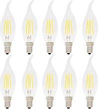 10 pcs Dimmable E14 4Watt LED Filament Flame Tip