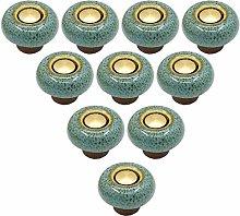 10 pcs European Furniture Handles Ceramic Cabinet