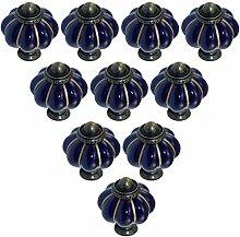 10 pcs Kitchen Handle Drawer Ceramic Knobs Drawer