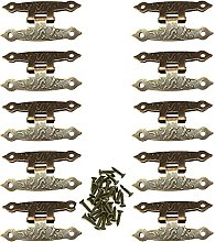 10 Pcs Retro Country Style Small Hinges H-Shaped