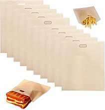 10 Pcs Reusable Toaster Bags Teflon Snacks Bags