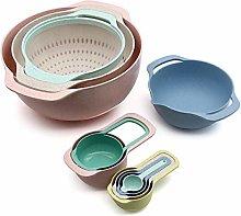 10 Pcs Set Mixing Bowl Measure Cup Spoons Baking