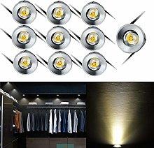 10 Pcs Small Mini Recessed Ceiling Lights,