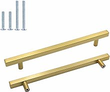 10 Piece Furniture Handles, Stainless Steel Square