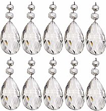 10 Pieces Choice of Shape Clear Chandelier Drops