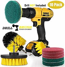 10 Pieces Drill Brush Attachment Set Power