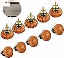 10 Pieces Furniture Knobs Set, Vintage Pumpkin