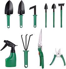 10 Pieces Garden Tool Set Heavyt Duty Gardening