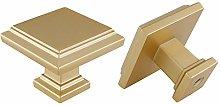 10 Pieces Gold Cabinet Knob Brass Cupboard Knobs -