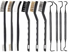 10 Pieces Gun Cleaning Brush and Pick Kit