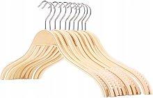 10 pieces of anti-slip wooden hangers