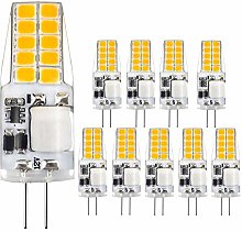 10 Pieces of G4 LED Bulb JC Bi-Pin Lamp Holder