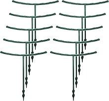 10 Pieces/Set Half Round Garden Plant Support