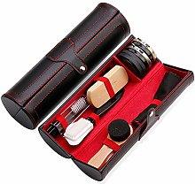 10 Pieces Shoe Shine Kit with PU Leather Sleek