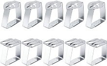 10 Pieces Tablecloth Clips, Stainless Steel