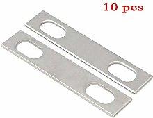 10 Sets of Flat Metal Bracket, Stainless Steel