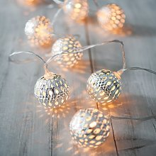 10 Silver Maroq Battery Operated LED Fairy Lights