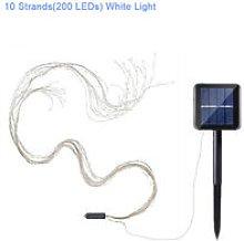 10 strands (200 LEDs) solar tube string lights,