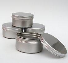 10 x 100ml Aluminium Tin Large Make up Candle Pots