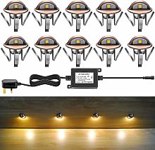 10 x 35mm Outdoor Led decking Light Kits IP65