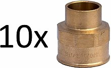 10 X Brass Plumbing Fittings for Solder Connection