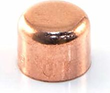 10 x Copper End Feed Stop 15mm Female Fitting
