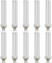 10 x Crompton CLD26SCW CFL Light Bulbs D 2 Pin