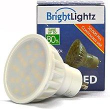 10 x DIMMABLE GU10 LED/SMD Bulbs 5W Warm White **