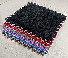 10 x EVA Foam Rug Tile (Black) Soft Interlocking