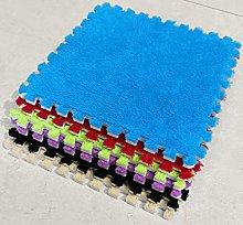 10 x EVA Foam Rug Tile (Blue) Soft Interlocking